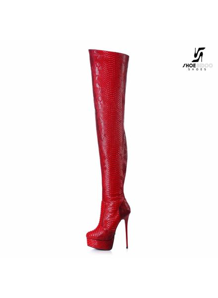Giaro GALANA 1004 | RED SNAKE | THIGH HIGH BOOT