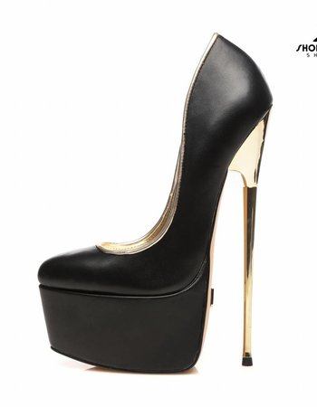 Giaro Black Giaro gold heel fetish pumps
