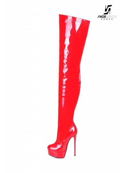 "Giaro Red shiny Giaro ultra ""Galana"" thigh boots"
