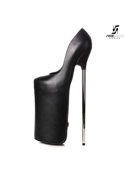 Giaro Black fetish monster pumps with silver heels