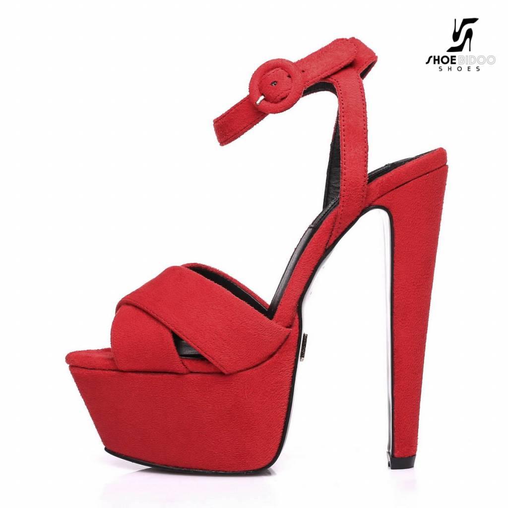 "Giaro Rode velour Giaro ""Destroyer"" platform sandalen met enkelbandje"