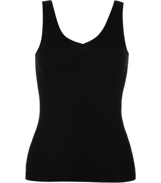Hanro Top Woolen Silk 071416 black