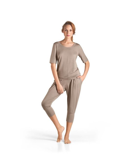 Hanro Shirt Yoga 077994 taupe grey