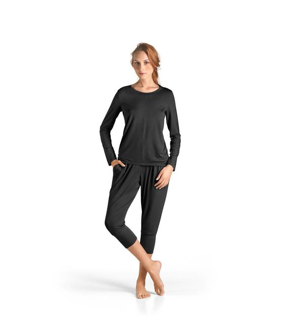 Hanro Shirt Yoga 077996 black