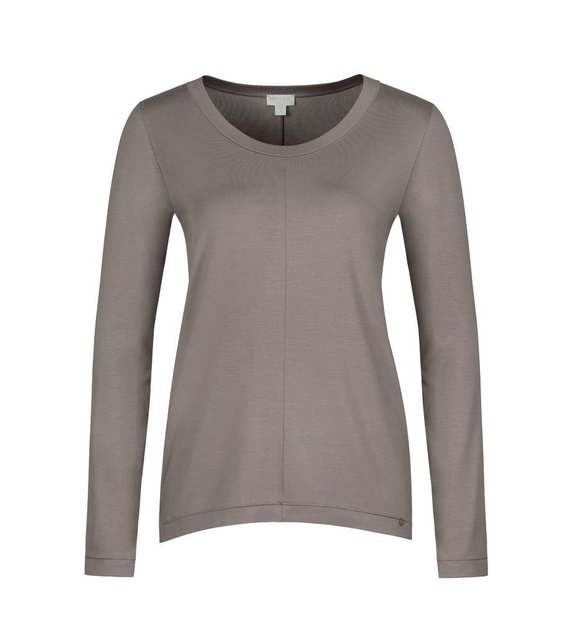 Hanro Shirt Yoga 077996 taupe grey