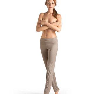 Hanro Broek Yoga 077998 taupe grey