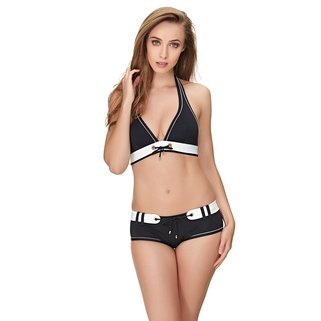 Huit Halter Bikini Top Look at Me 50 Black
