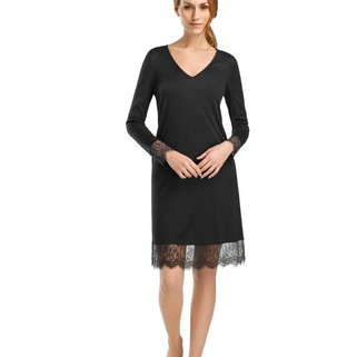 Hanro Nachthemd Estelle 076272 Black