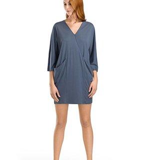 Hanro Nachthemd Lange Mouw 076280 Weak Blue