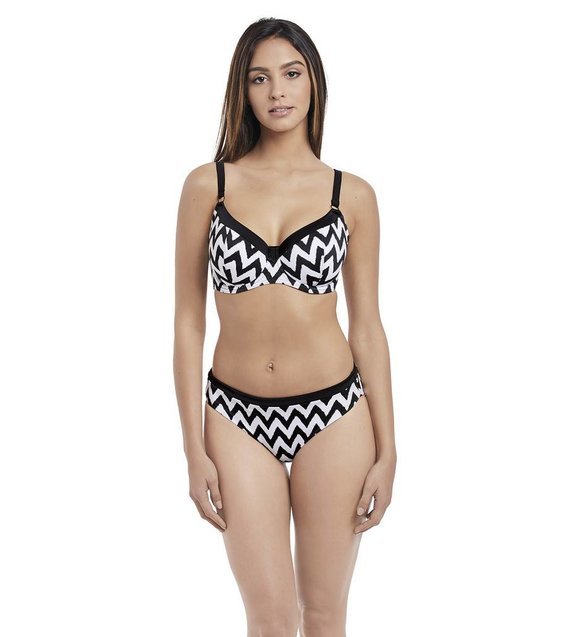 Freya Bikini Slip Making Waves AS2950 Zwart-Wit