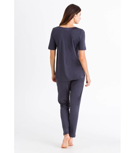 Hanro Pyjama Lavender 076333 Purple Grey