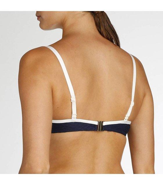 Marie Jo Swim Strapless Bikini Top Brigitte 1000318 Blue Noir