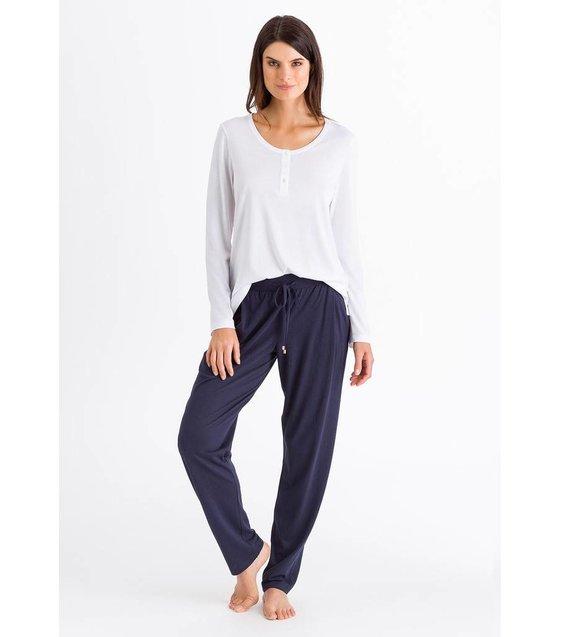 Hanro Pyjama Broek Lounge 077880 Crown Blue