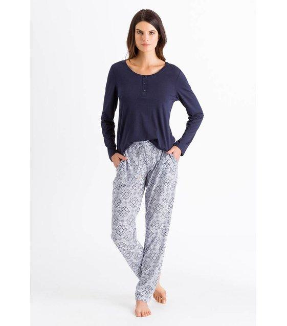 Hanro Shirt Sleep & Lounge 077610 Crown Blue