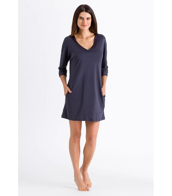 Hanro Nachthemd Lavender 076331 Purple Grey