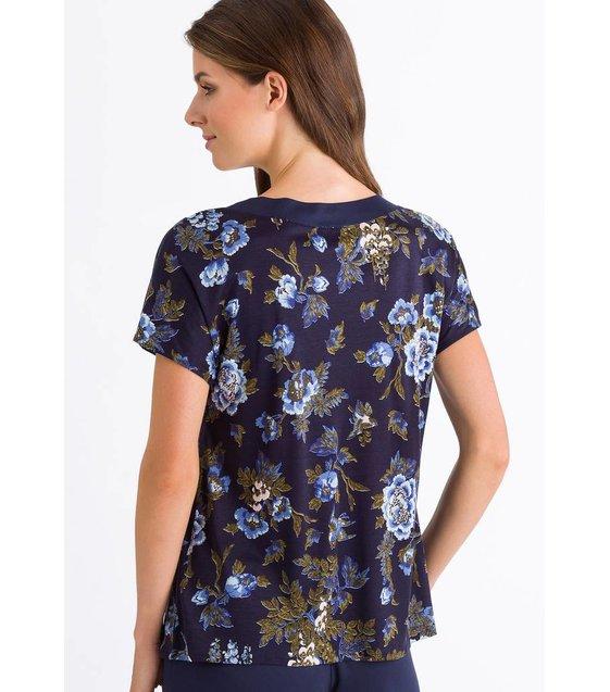 Hanro Shirt Zahra 076395 Flower Print