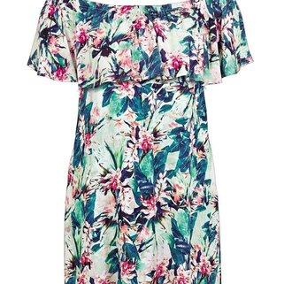 Watercult Off Shoulder Dress Floral Camo 9545-016 Vintage Jungle