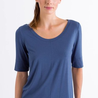 Hanro Shirt Yoga 077994 Riviera Blue
