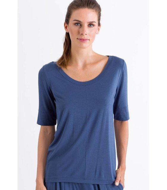 Hanro Shirt Yoga 077994 Riviera Blue