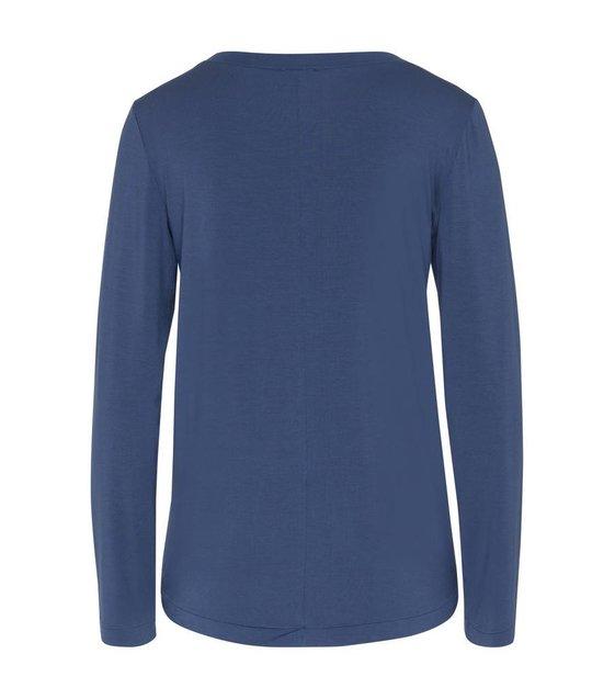 Hanro Shirt Yoga 077996 Riviera Blue