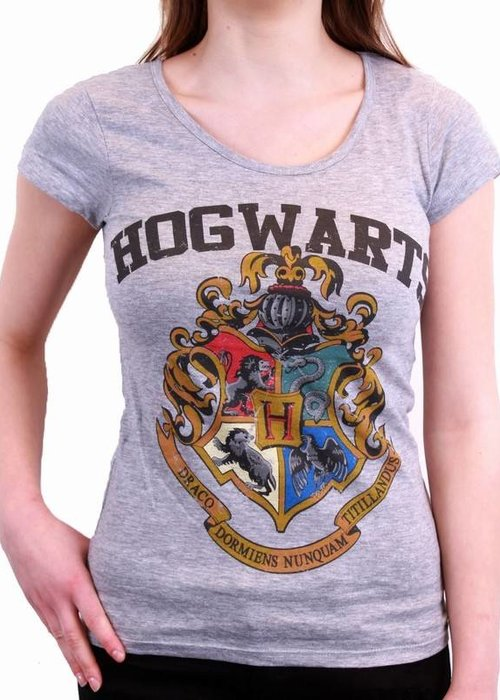 Harry Potter Harry Potter Hogwarts Crest Grey - Female - T-Shirt