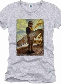 Star Wars Chewie On The Beach - T-Shirt