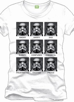 Star Wars Stormtrooper Emotions - T-Shirt