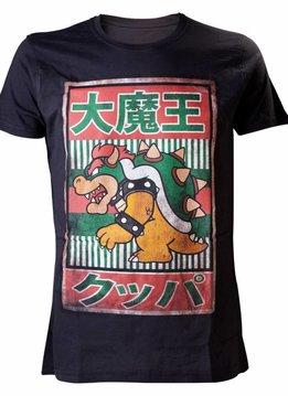 Nintendo Super Mario Bowser Kanji - T-Shirt