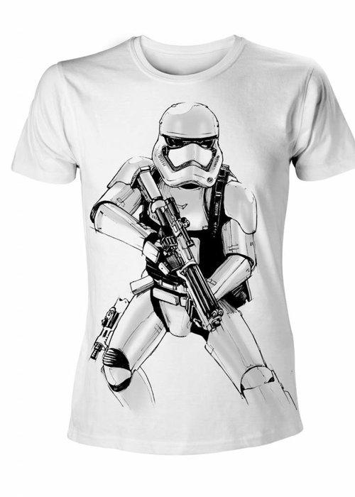 Star Wars Stormtrooper Armed Sketch - T-Shirt