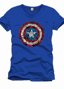 Marvel Captain America Comic Logo Shield - T-Shirt