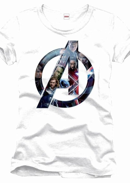 Marvel Avengers Faces Logo - T-Shirt