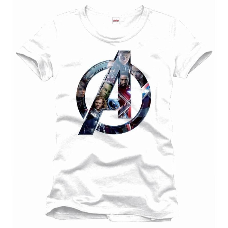 Marvel Avengers Faces Logo - T-Shirt