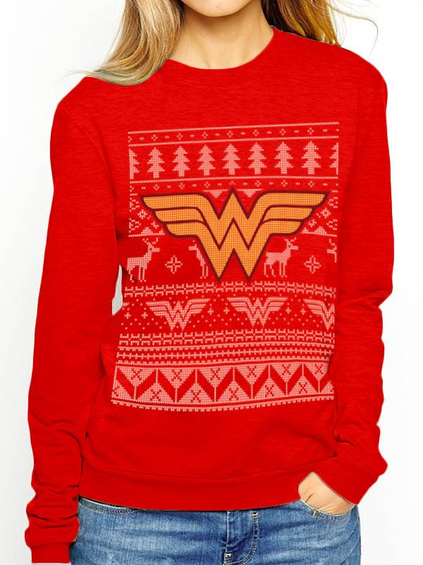 DC Comics Wonder Woman Christmas Fair Isle - Sweater