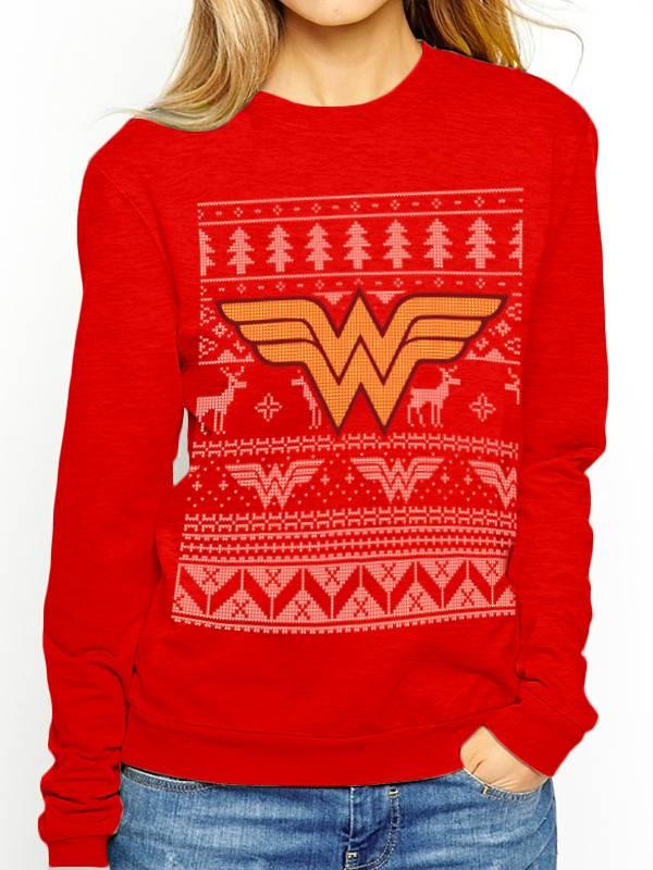 DC Wonder Woman Christmas Fair Isle - Sweater