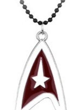 Star Trek Red & White Logo Necklace