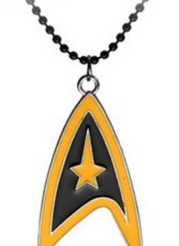 Star Trek Black & Orange Logo Necklace