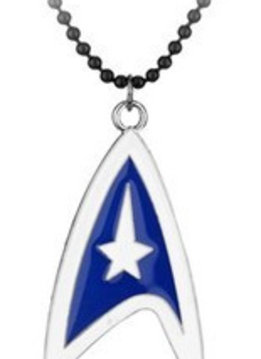 Star Trek Blue & White Logo Necklace