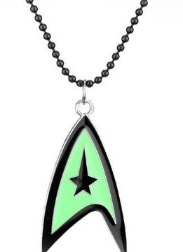 Star Trek Green & Black Logo Necklace