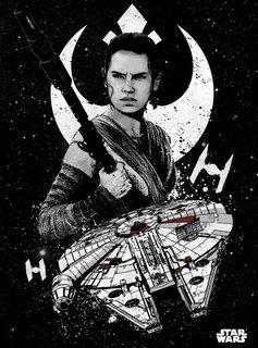 Star Wars Rey - Displate