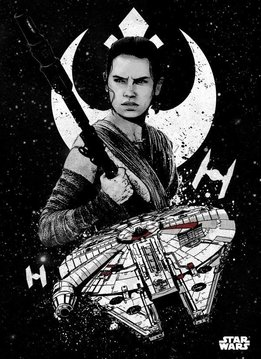 Star Wars Rey - Displate