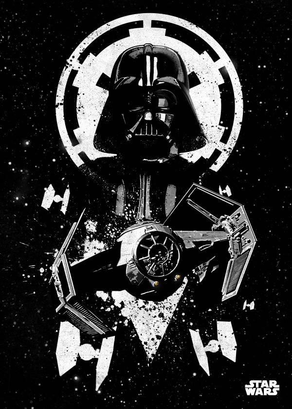Star Wars Tie Advanced - Displate