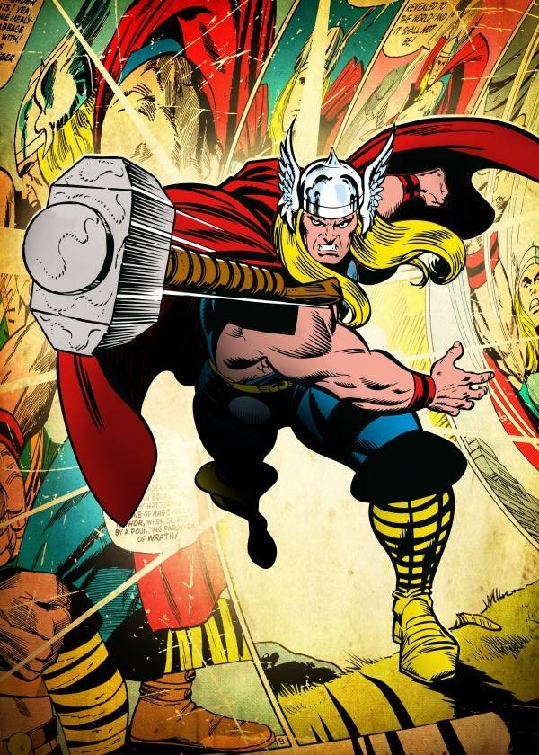 Marvel Thor - Silver Age - Displate
