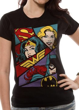 DC Comics Heroines Art - T-Shirt