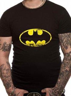 DC Batman Washed Logo Black
