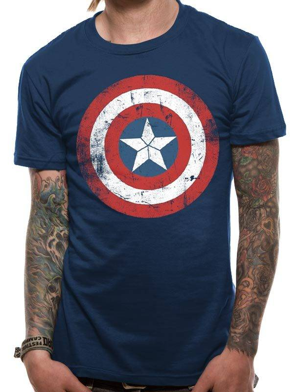 Marvel Captain America Shield Washed - T-Shirt