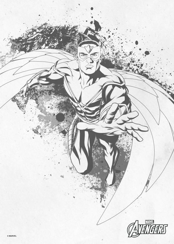 Marvel Falcon - Displate