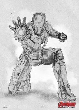 Marvel Iron Man - Displate