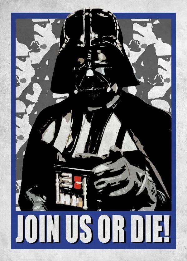 Star Wars Join us or die - Displate
