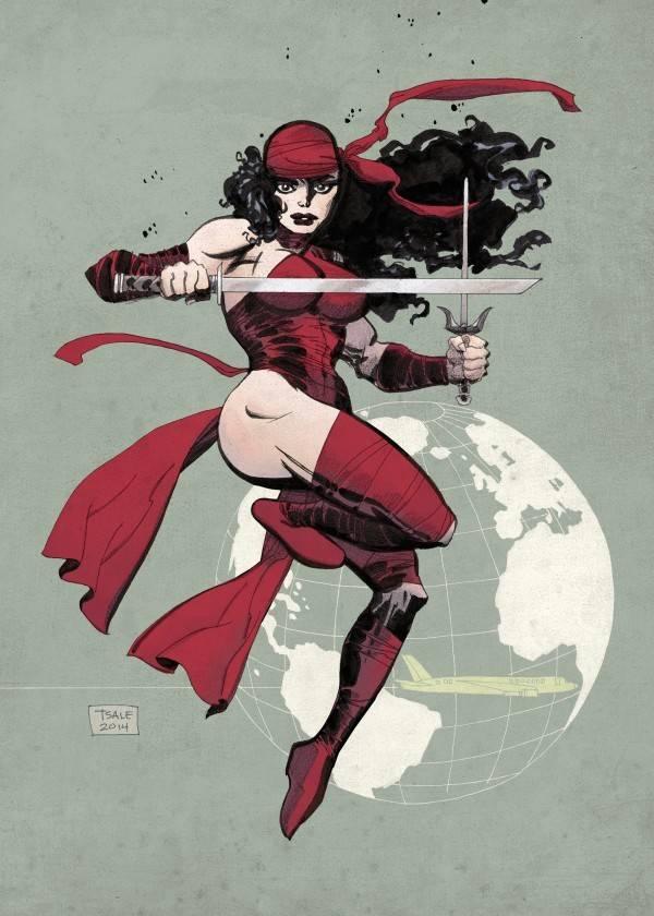 Marvel Elektra Comic - Displate