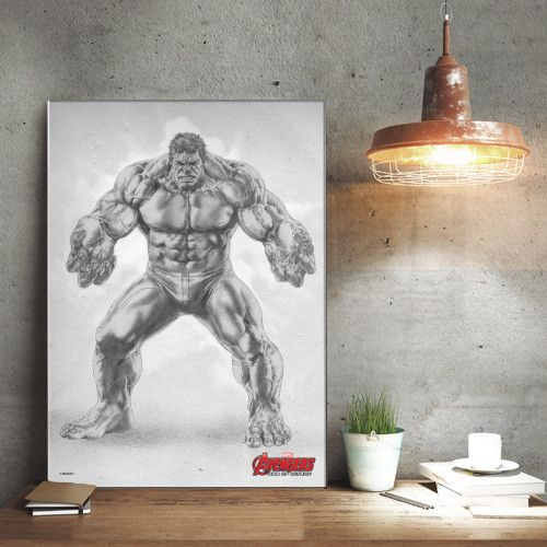 Marvel The Hulk - Avengers Pencil Sketch - Displate